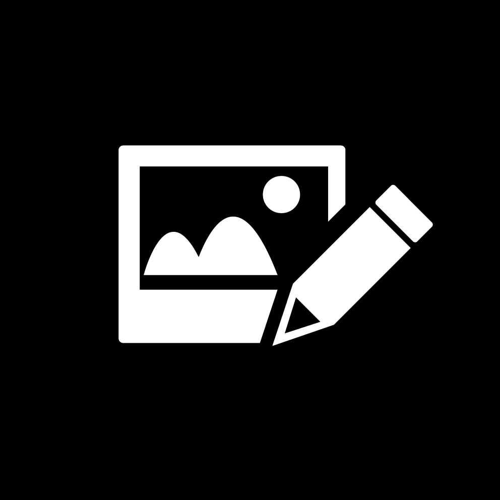 Icon Bildbearbeitung