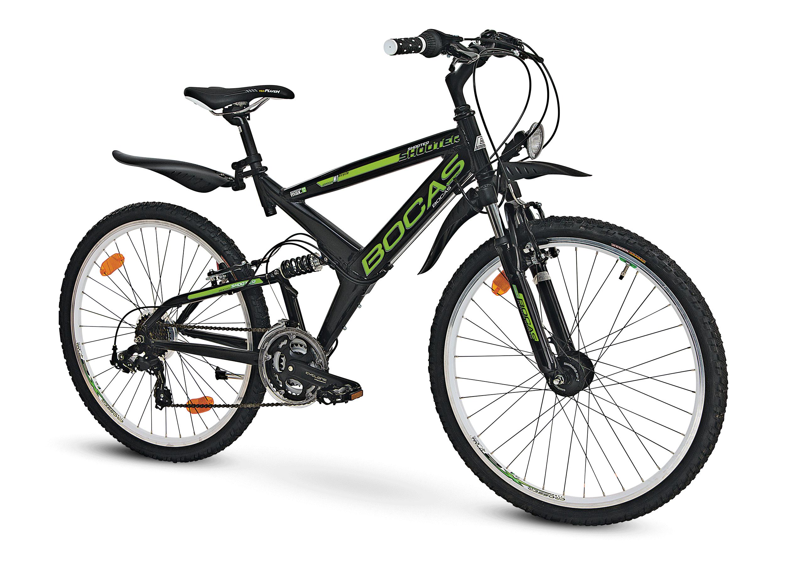 boc,mountainbike-in-schwarz,produktabbildung,solo,schatten,retusche,postproduktion