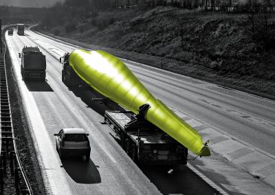 wendland-design,autobahn,schwertransport,sw-bild,rotor-farbe-grün,retusche,postproduktion