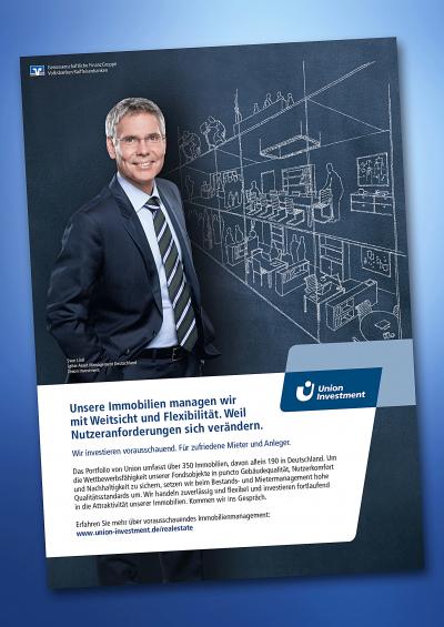 union-investment,person,mann,kreide-illustration,anzeige,retusche,postproduktion,reinzeichnung